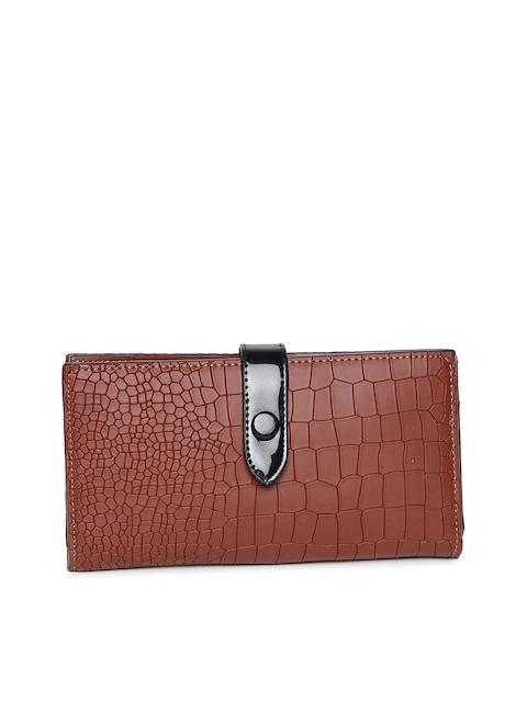 Alvaro Castagnino Women Brown Textured Two Fold Wallet