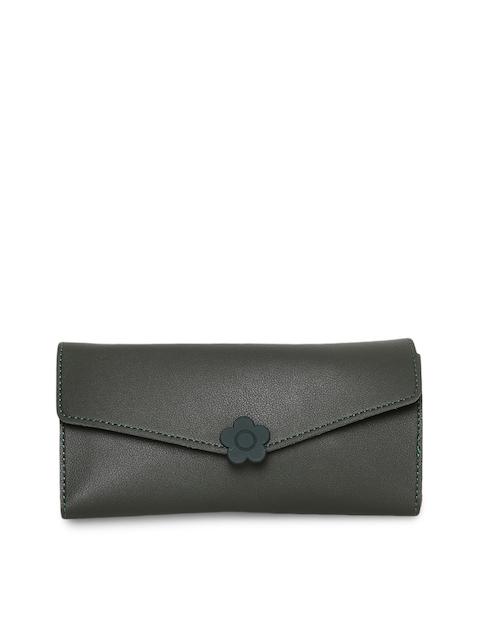 Alvaro Castagnino Women Black Solid Three Fold Wallet