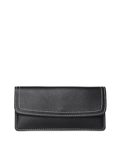 Alvaro Castagnino Women Black Solid Two Fold Wallet