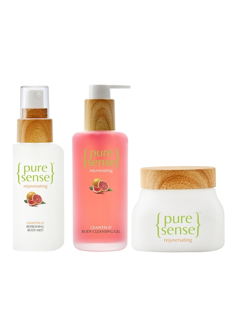 Pure Sense Unisex Pack of 3 Body Cleansing Gel, Mist & Body Cream