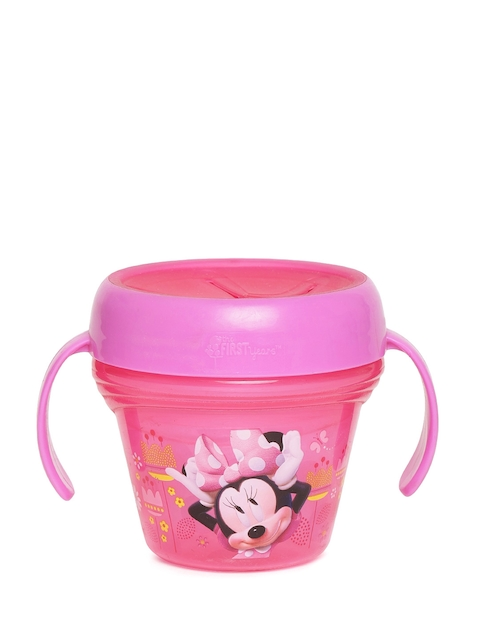 The First Years by YK Girls Pink Minnie Mouse Print Snack Container with Handles 240 ml