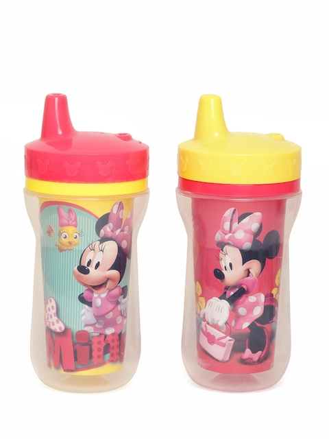 The First Years by YK Girls Set of 2 Multicoloured Minnie Mouse Print Insulated Sippy Cups