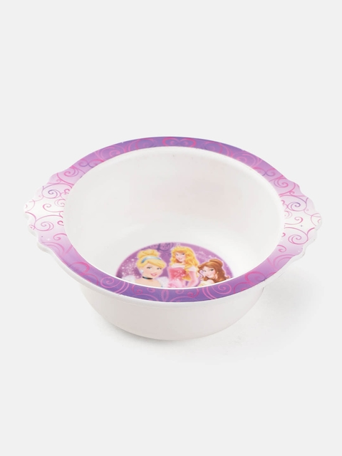 The First Years by YK Girls White & Lavender Disney Princess Print Feeding Bowl