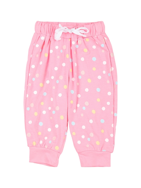 Gini and Jony Girls Pink Regular Fit Printed Formal Trousers
