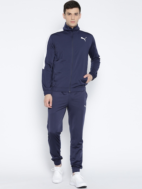 Puma Navy Classic Tricot CL Tracksuit
