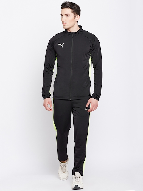 Puma Men Black Solid ftblNXT Woven Track Suit