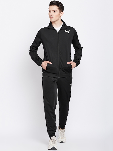 Puma Men Black Solid Classic Tricot Suit CL Track Suit