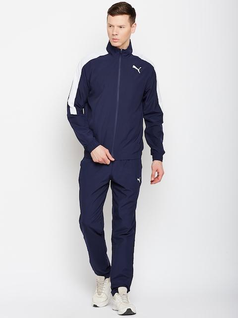 Puma Men Navy Blue Solid Classic Woven Suit Op Track Suit
