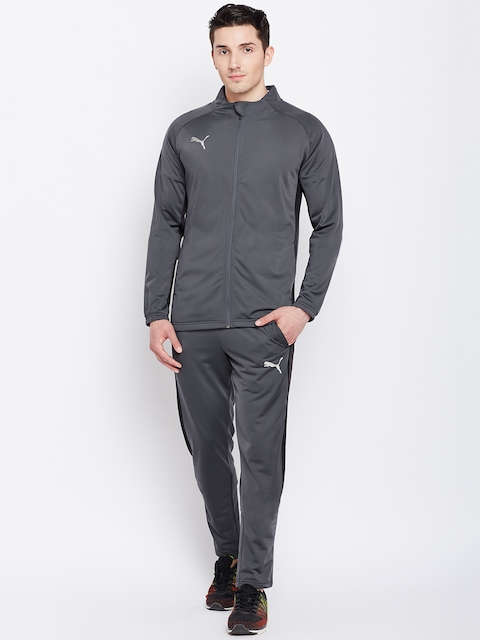 Puma Men Grey Solid ftblNXT Woven Track Suit
