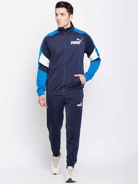 Puma Men Navy Blue Colourblocked Tricot Suit cl Track Suit