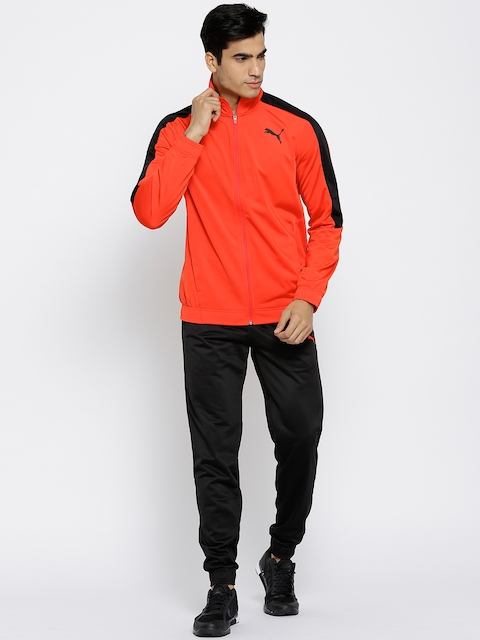 Puma Red & Black Classic Tricot CL Tracksuit