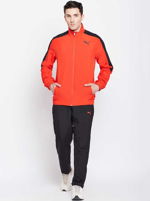 Puma Men Red & Black Solid Classic Woven Suit Op Track Suit