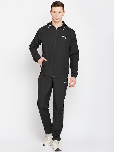 Puma Men Black Solid Active Vent Woven Suit Op Track Suit