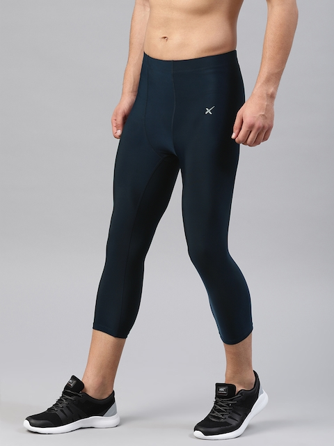 HRX by Hrithik Roshan Men Navy Rapid-Dry Active 3/4th Compression Pants