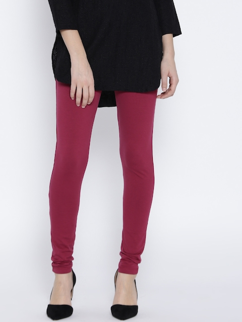 Monte Carlo Magenta Churidar Leggings