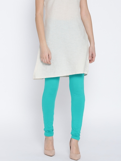 Monte Carlo Sea Green Churidar Leggings