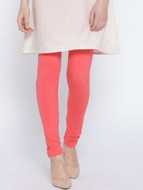 Monte Carlo Coral Orange Churidar Leggings