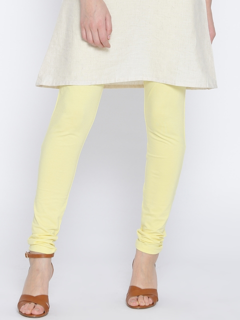 Monte Yellow Churidar Leggings