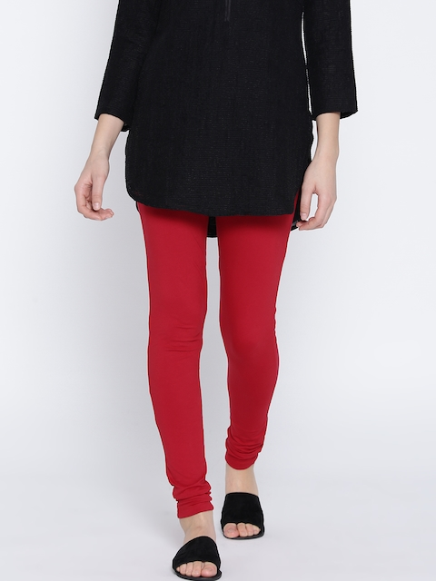 Monte Carlo Red Churidar Leggings