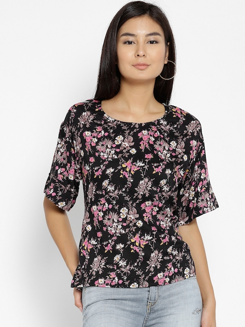 Monte Carlo Women Black Printed Top