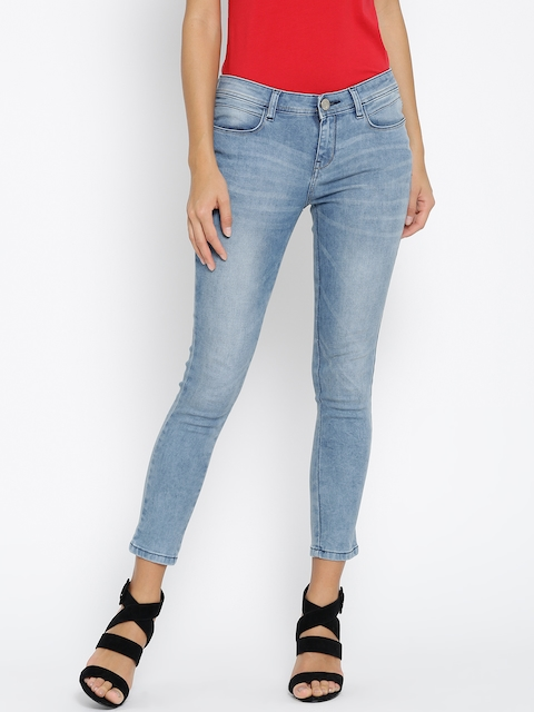 Monte Carlo Women Blue Mid-Rise Clean Look Jeans