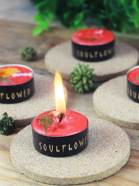 Soulflower Pack of 25 Rose Big T Light Candles