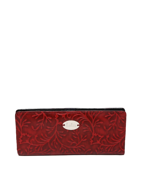 Holii Women Red Textured Two Fold Wallet