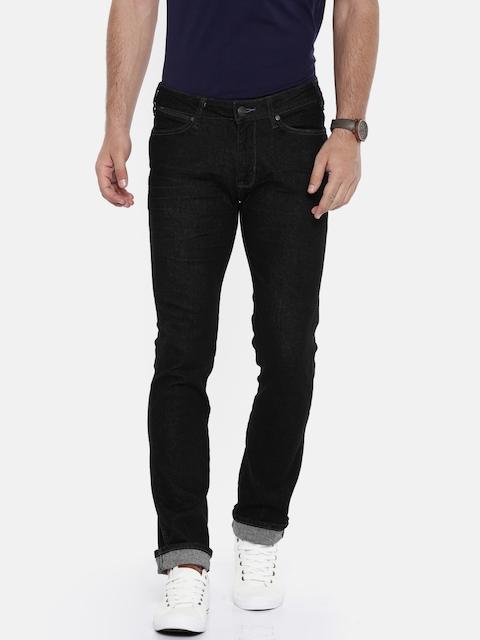 Wrangler Men Black Slim Fit Low-Rise Clean Look Stretchable Jeans