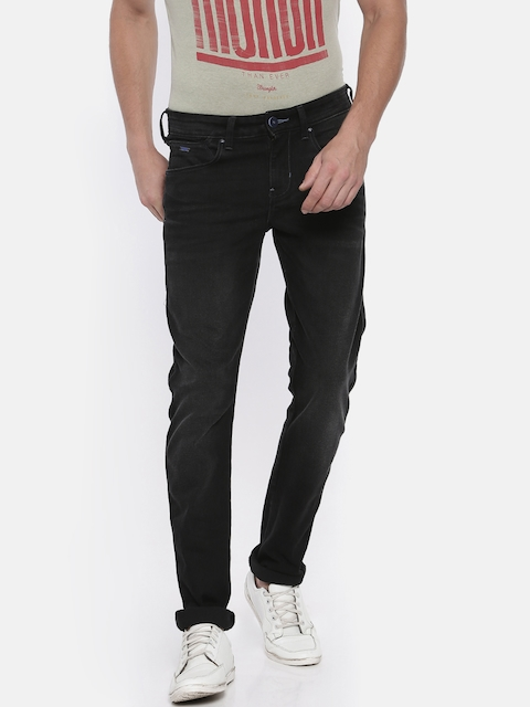 Wrangler Men Black Vegas Skinny Fit Low-Rise Clean Look Stretchable Jeans