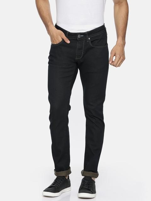 Wrangler Men Black Vegas Skinny Fit Low-Rise Clean Look Stretchable Jeans