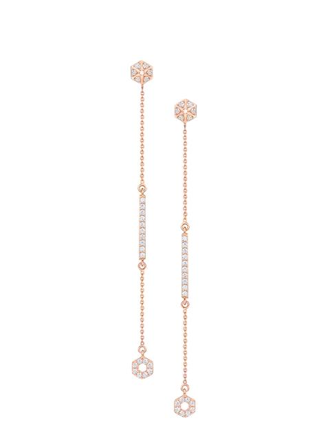 SWAROVSKI Rose Gold-Plated Grapefruit Pierced Earrings
