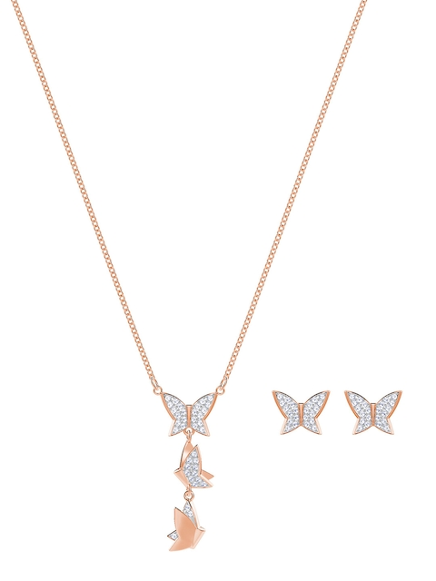 SWAROVSKI Women Rose Gold-Toned Lilia Set