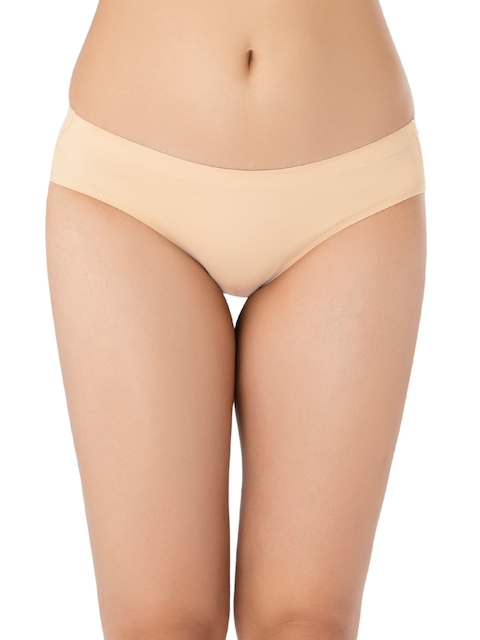 PrettySecrets Women Nude Solid Seamless Hipster