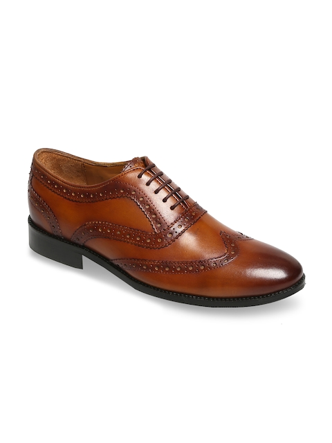 BRUNE Men Tan Hand Crafted Formal Shoes