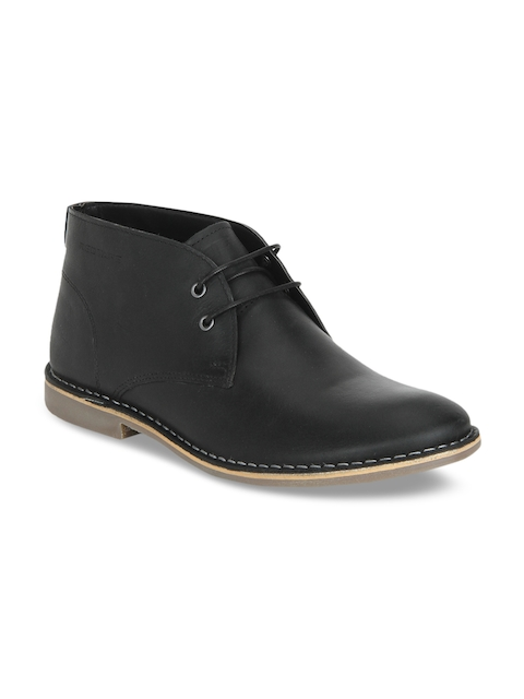 Red Tape Men Black Flat Boots