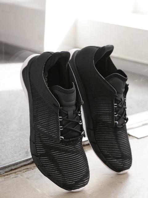 Reebok Women Black FSTR Flexweave Woven-Design Running Shoes