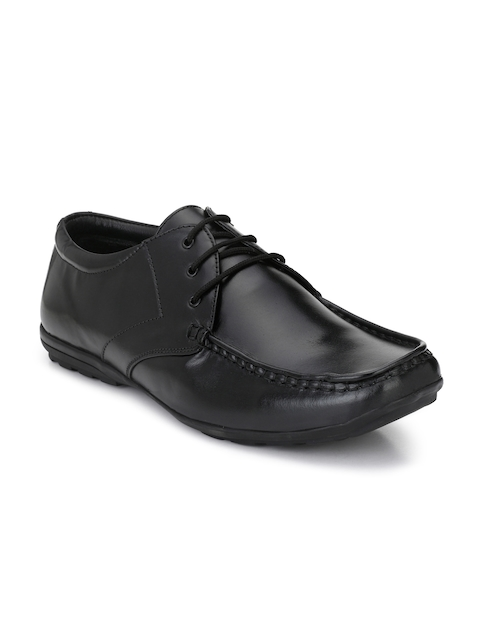 Guava Men Formal Black Leather Brogues