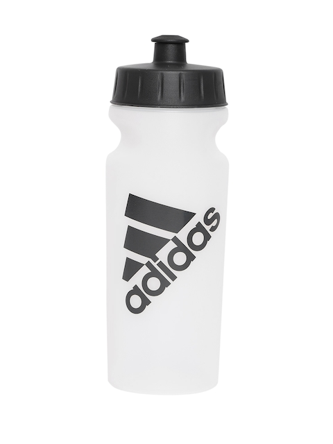 Adidas Unisex White & Black Printed Performance Water Bottle 500 ml