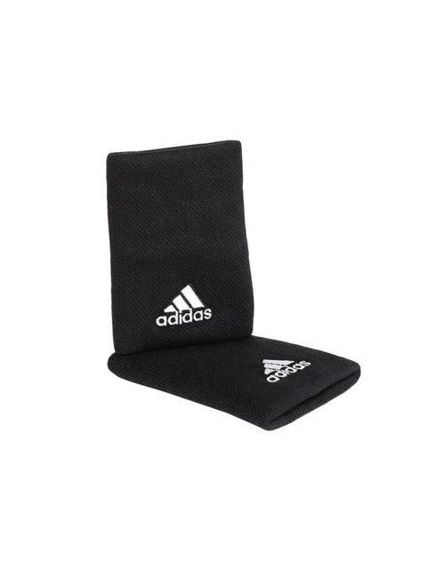 Adidas Unisex Set of 2 Black Tennis Wristbands