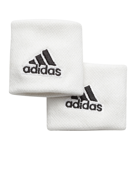 Adidas Unisex Set of 2 White S Tennis Wristbands