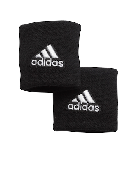 Adidas Unisex Set of 2 Black S Tennis Wristbands