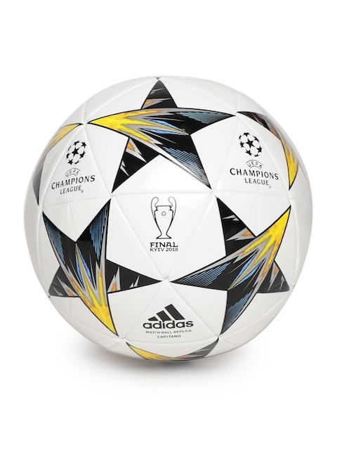 ADIDAS Men White & Black Finale KIEV CAP Printed Replica Football