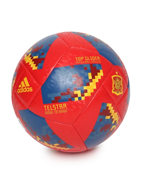 ADIDAS Men Red & Blue World Cup 18 FEF Printed Replica Football