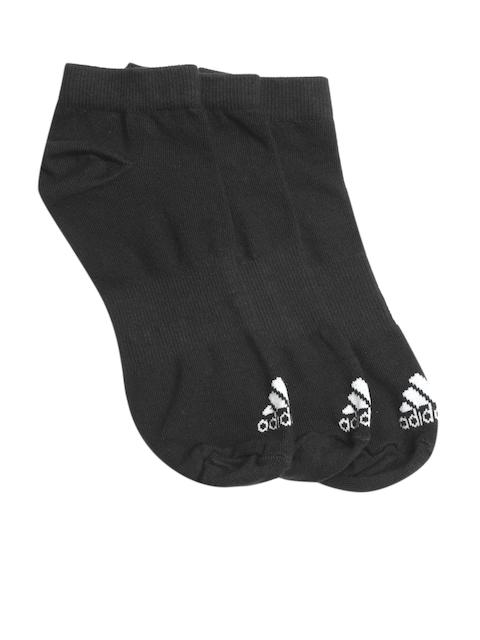 Adidas Unisex Black Per No-SH T Pack of 3 Ankle-Length Socks