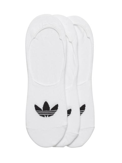 Adidas Originals Unisex Pack of 3 White No Show Shoe Liners
