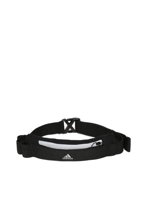 ADIDAS Unisex Black Running Waistbelt