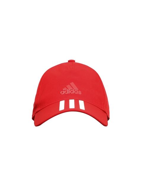 Adidas Unisex Red C40 6P 3S Solid Baseball Cap