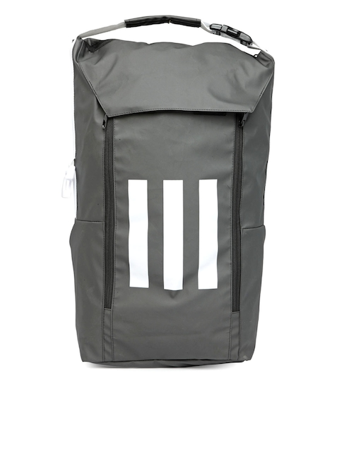 Adidas Unisex Grey Brand Logo ATHL ID Backpack