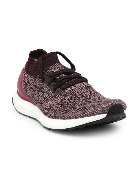 ADIDAS Women Burgundy Ultraboost Uncaged Running Shoes