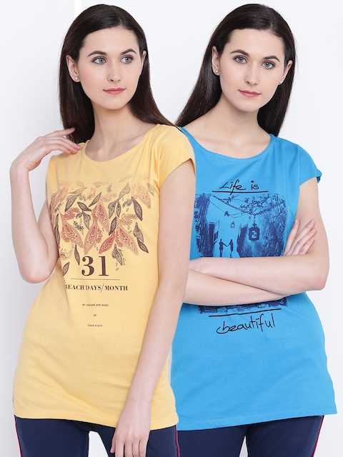 Monte Carlo Women Pack of 2 Printed T-shirts